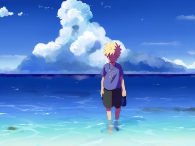 Naruto Art Uzumaki Naruto Sea Sky (click to view)