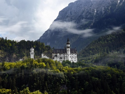 Neuschwanstein Castle Bavaria Germany World Attractions Buildings Nature