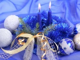 New Year Christmas Candles