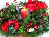 New Year Christmas Holiday Wreath Needles Candle Buds