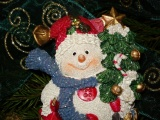 New Year Snowman Toy Twig Needles Jewelry