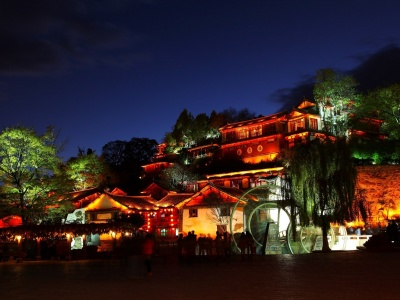 Night Lijiang Yunnan China