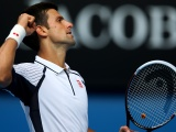 Novak Djokovic Celebrates His Victory