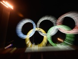 Olympic Rings Is Illuminated At Sochi