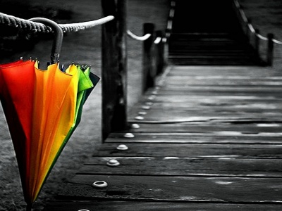 One Colorful Umbrella (click to view)