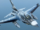 Over The Sea Fighter F 16am