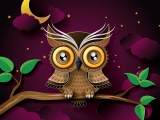 Owl Bird Art Branch