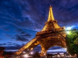 Paris Eiffel Tower Night Lights