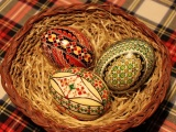 Pascha Feast Eggs Three Patterns Basket Tablecloth