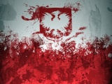 Poland Paint Stain Background