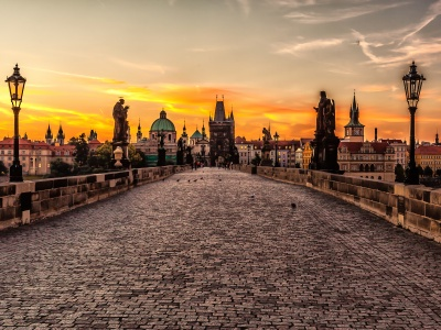 Prague Sunrise - The Charles Bridge