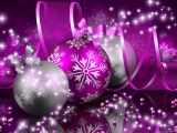 Purple Merry Christmas And New Year