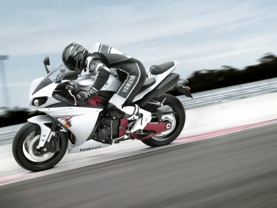 Racing On A Yamaha YZF-R1 (click to view)