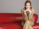 Red Sofa Happy Marcia Cross