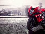Red Suzuki GSX Sports Bike