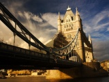 River Tower Bridge Bridge England Clouds Sky City Landscape