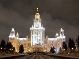 Russia Moscow University Evening City Landscape