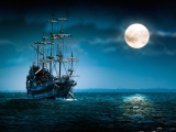 Sailboat Full Moon - Flying Dutchman