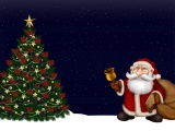 Santa Claus Christmas Tree Night