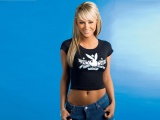 Sara Jean Underwood Model Actress Blonde Smile Jeans