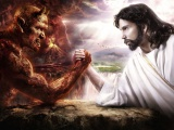 Satan Vs Jesus Arm Wrestling