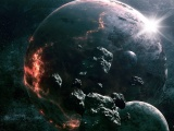 Science Fictional Outer Space Planets Digital Art 2