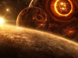 Science Fictional Outer Space Planets Digital Art