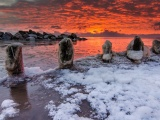 Sea Winter Sunrises Ice Snow Nature