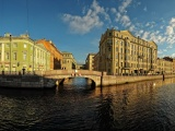 St Petersburg Russia Building River Neva River City Landscape