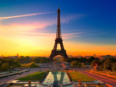 Sunset In Paris Wallpaper (click to view)