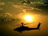 Sunsets Apache Military Helicopters Ah64 Apache