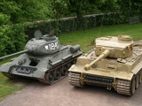 Tanks T-34 And Tiger I
