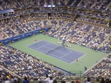 Tennis Match At The US Open