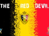 The Red Devils Belgium Football Crest Logo