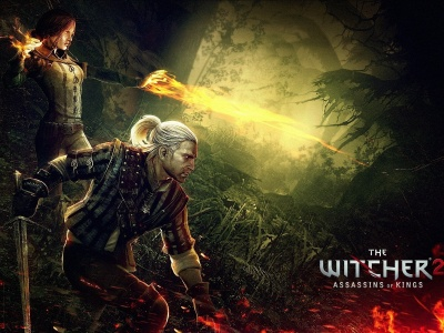 The Witcher 2 Assassins Of Kings Triss Merigold Geralt