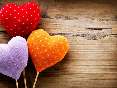 Three Colorful Hearts (click to view)