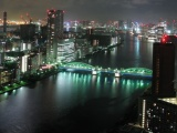 Tokyo Bridge River Building Night City Landscape