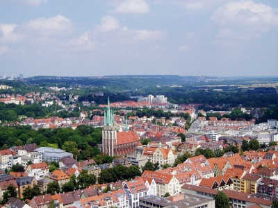 Ulm Panoramic Baden Wurttemberg Germany