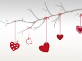 Valentines Day Hearts Branch