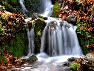 Waterfalls Thessaly Greece Nature Landscapes