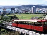 Wellington New Zealand Funicular Car Cityscape