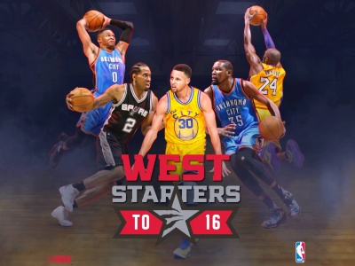 West 2016 NBA All Star Starters (click to view)