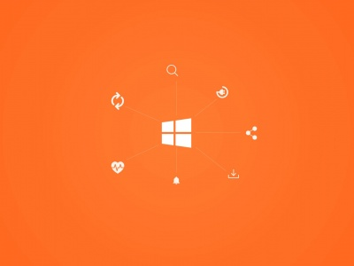 Windows 10 Stay Connected Orange