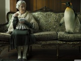 Women Couch Old Funny Penguins