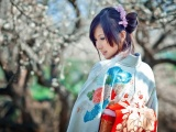 Women Japan Cherry Blossoms Dress Sakura Japanese Kimono Asians