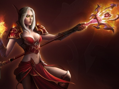 World Of Warcraft Wow Blood Elf Elf Mage Wallpaper