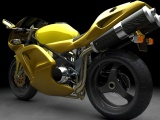 Yellow 3D Sports Bike