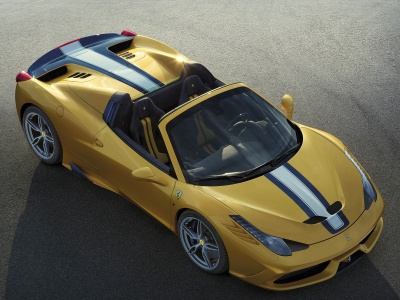 Yellow Ferrari 458 Speciale A (click to view)