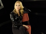 Yvonne Strahovski Blonde Jacket Chair Pants