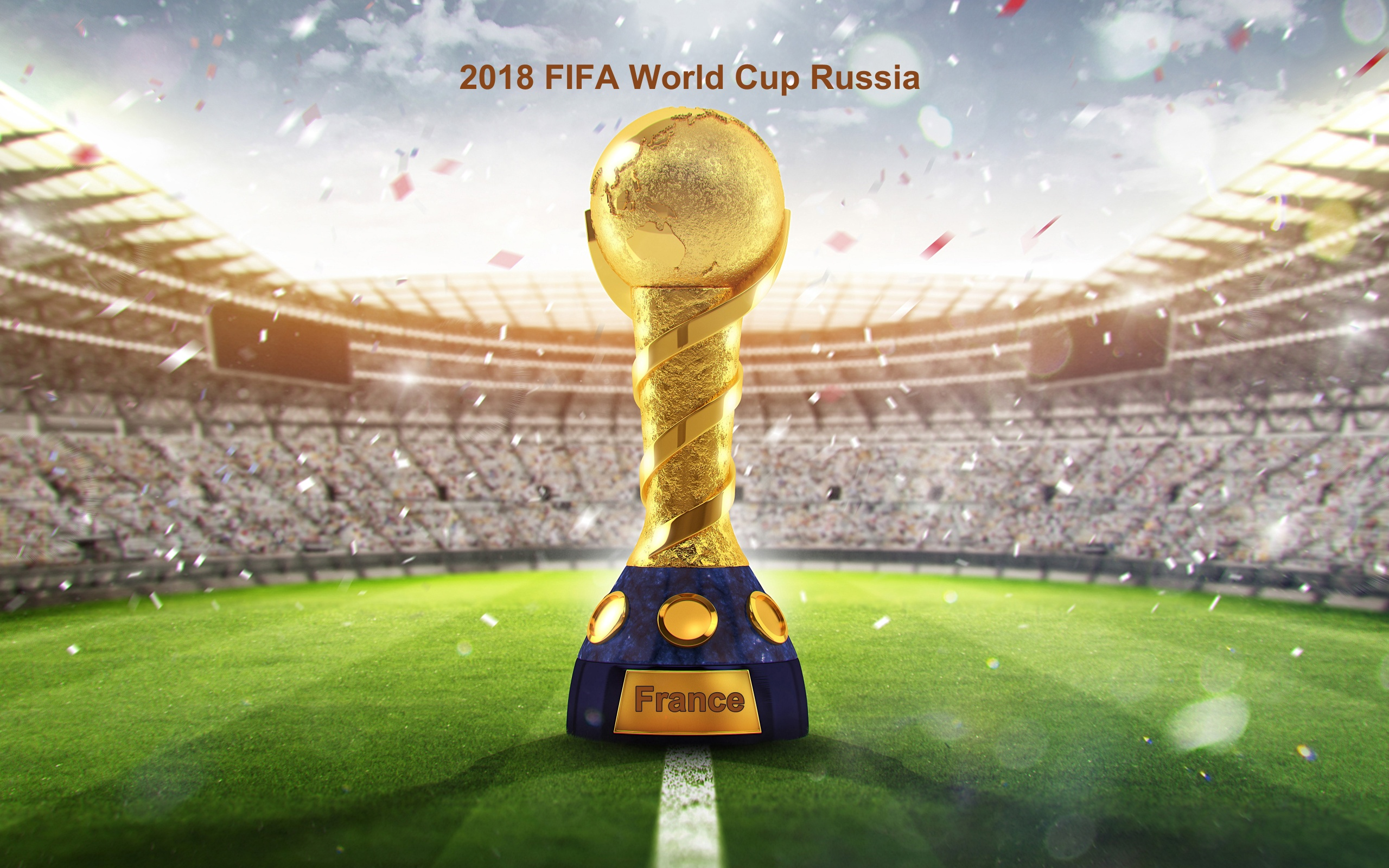 2018 Fifa Wc Russia Golden Trophy